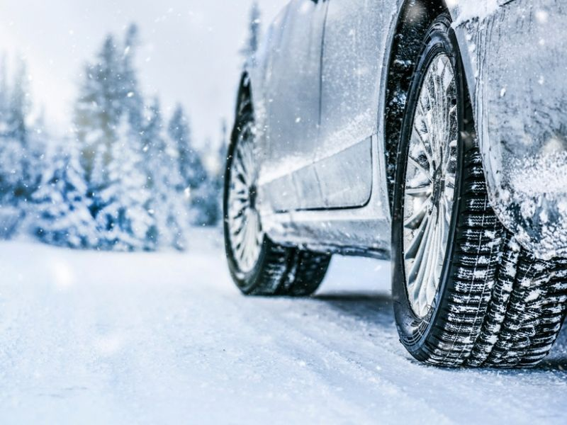 winter tires on car